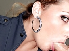 Teen Jessi enjoys huge cock cumming inside say no to throat