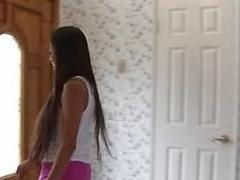 School drills schoolgirl