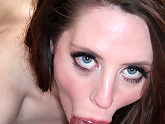Breasty beauty doing a really nasty unfathomable mouth