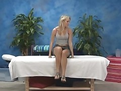 Sexy 18 year old hotty gets fucked hard from behind by her massage therapist